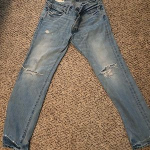 Abercrombie & Fitch ripped mom jeans